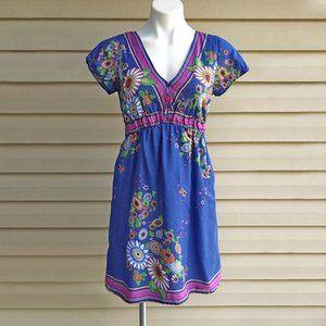 Maurices Cotton Floral Print Summer Sun Dress S